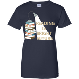 reading-is-bright-future---Reading-book---Men/Women-T-Shirt-Custom-Ultra-Cotton-T-Shirt-Black-S