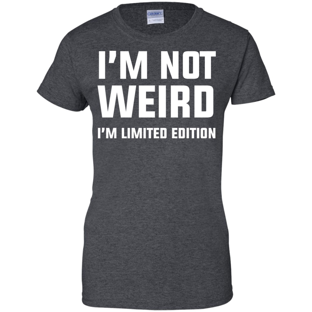 i'm-not-weird-Ladies-Custom-100%-Cotton-T-Shirt-Black-XS-