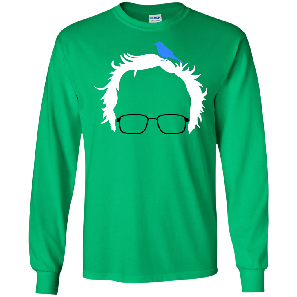 Bernie-Bird-President-2016-Sanders-Peace-Bern-Birdie---LS,-tank-top-LS-Ultra-Cotton-Tshirt-Irish-Green-S