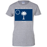 South-Carolina-Solar-Eclipse-2017-funny-flag-Ladies'-T-Shirt-Sport-Grey-XS-