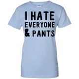 I-Hate-Everyone-&-Pants-Ladies-Custom-100%-Cotton-T-Shirt-Sport-Grey-XS-