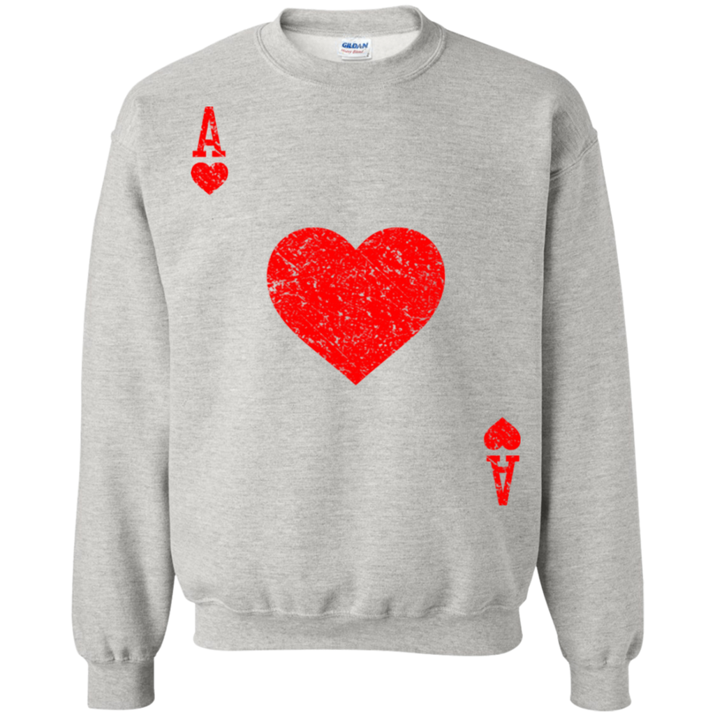 Ace-Of-Hearts-Vintage-Playing-Cards-Halloween-Costume-Hoodie/Sweatshirt---TeeEver-Pullover-Hoodie-Sport-Grey-S