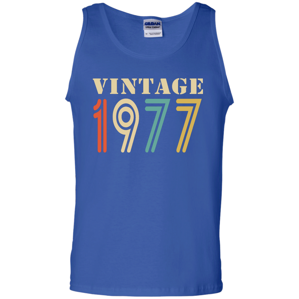 Vintage-1977---40th-birthday-gift-Tank-Top-Black-S-