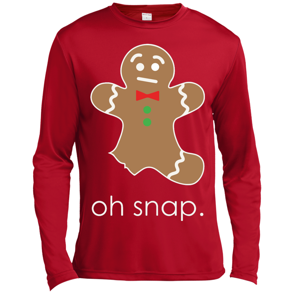 21341cead Oh Snap Funny Sweet Gingerbread Christmas Gift Long Sleeve Shirt ...