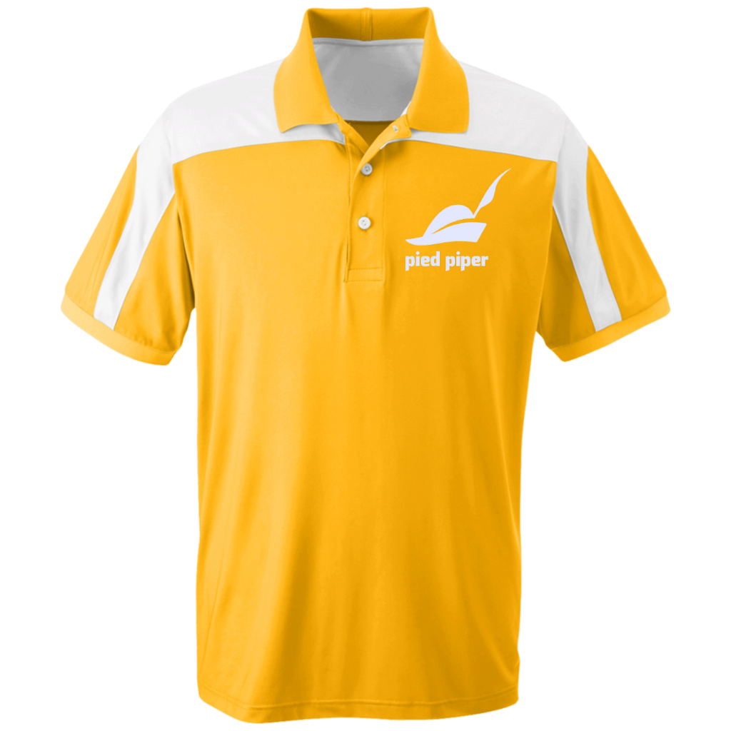 Piped-Piper-Logo---Silicon-Valley-Team-365-Colorblock-Polo-Athletic-Gold-XS-