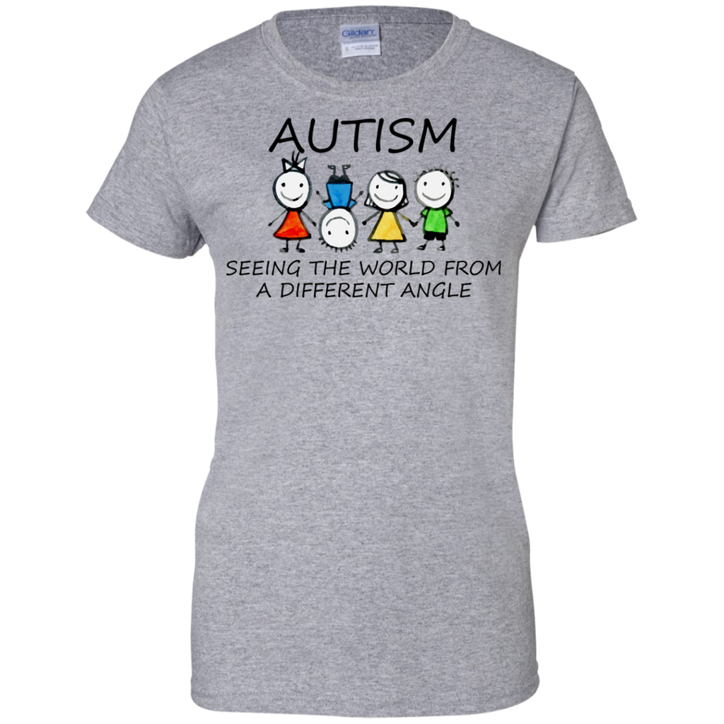 autism-seeing-the-world-from-a-different-angle-mom---Men/Women-T-Shirt-Custom-Ultra-Cotton-T-Shirt-Sport-Grey-S