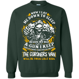Now-I-Lay-Me-Down-To-Sleep-Beside-My-Bed-A-GUN-Pullover-Sweatshirt-Black-S-