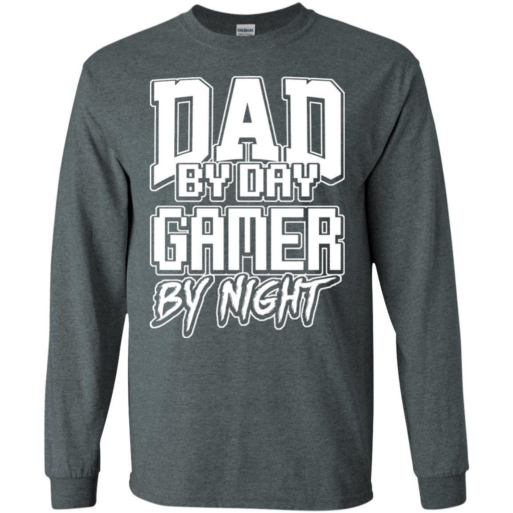 Gamer-Dad-Fathers-Day-Video-Computer-Games---Gift-Men-LS-T-Shirt-Black-S-