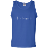 Airplane-Pilot-Heartbeat---Funny-Cute-Flying-Gift-Tank-Top---Teeever.com-Black-S-