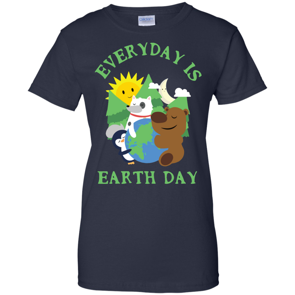 CUTE-EVERYDAY-IS-EARTH-DAY---Love-Animal-Earth-Gift-Ladies-T-Shirt---Teeever.com-Black-XS-