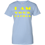 I-AM-YOUR-FATHER-Ladies-Custom-100%-Cotton-T-Shirt-Sport-Grey-XS-