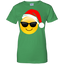 Emoji-Christmas-Shirt-Cool-Sunglasses-Santa-Hat-Family-Set-Ladies-T-Shirt-Black-XS-