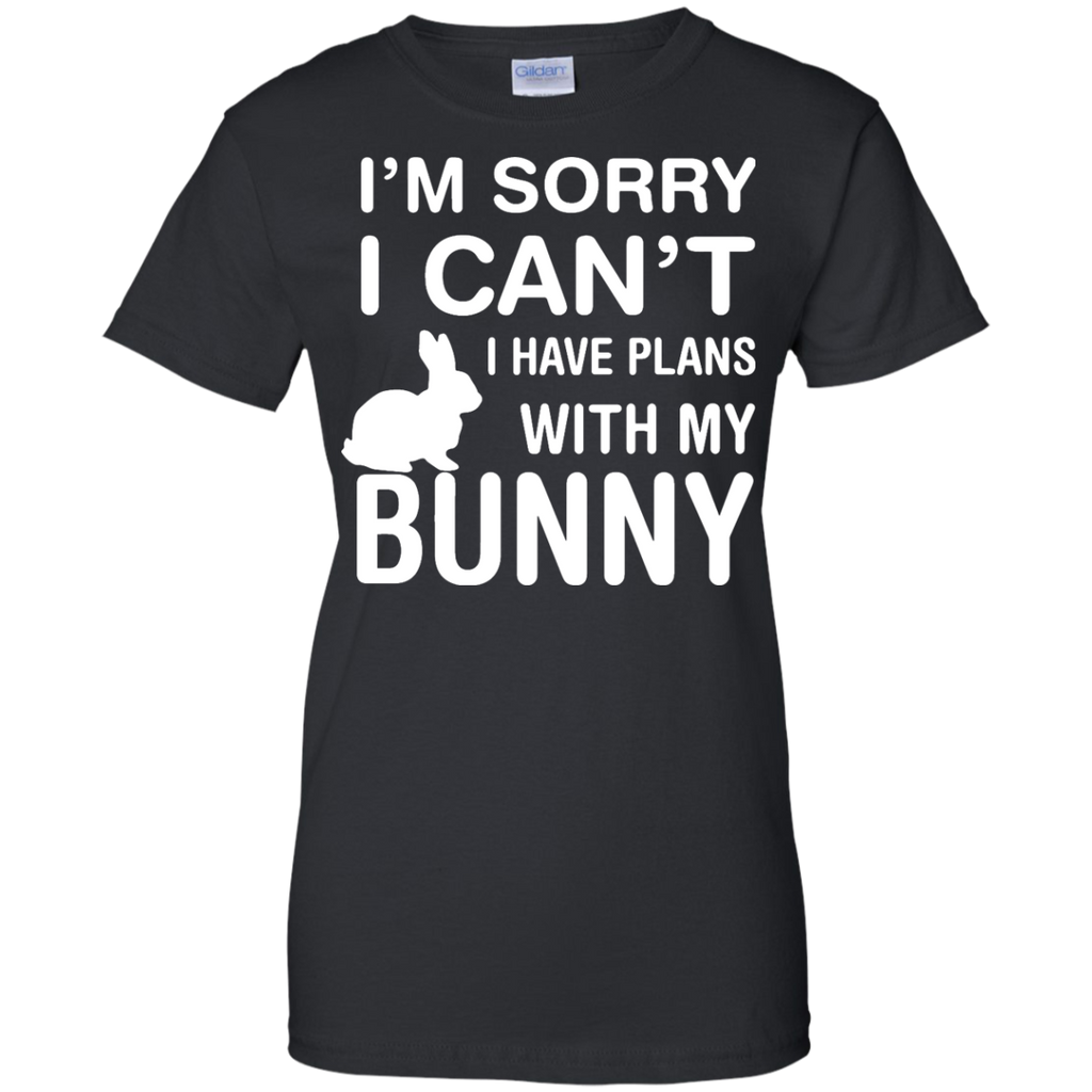 Sorry-I-Can't-I-Have-Plans-With-My-Bunny-Pet-Lover-Ladies-T-Shirt---Teeever.com-Black-XS-