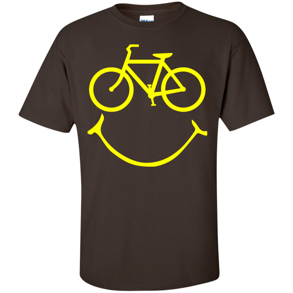 Smiley-bike-Cotton-T-Shirt-TeeEver-Black-S-