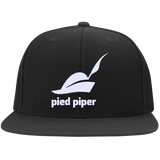 PIED-PIPER---SILICON-VALLEY-Flat-Bill-High-Profile-Snapback-Hat-Black-One-Size-