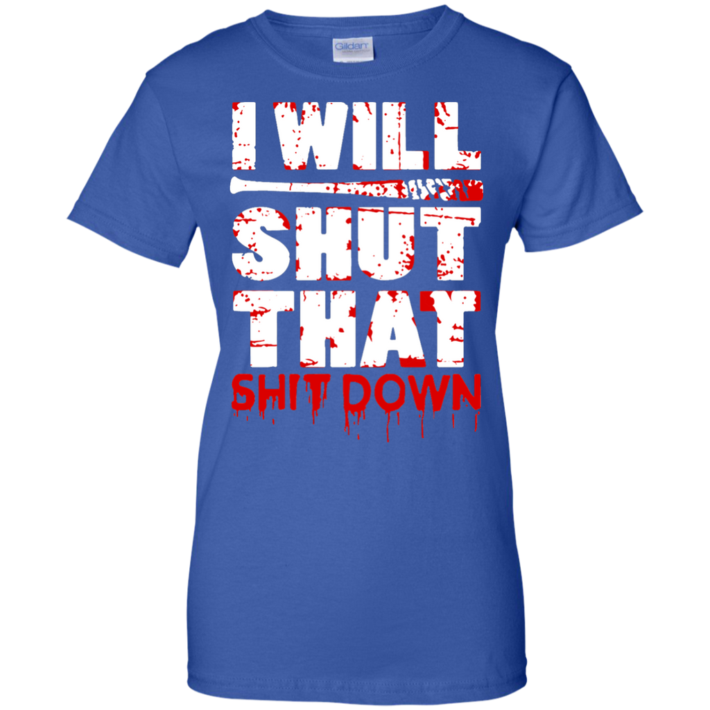 I-will-shut-that-down---Men/Women-T-Shirt-Custom-Ultra-Cotton-T-Shirt-Black-S