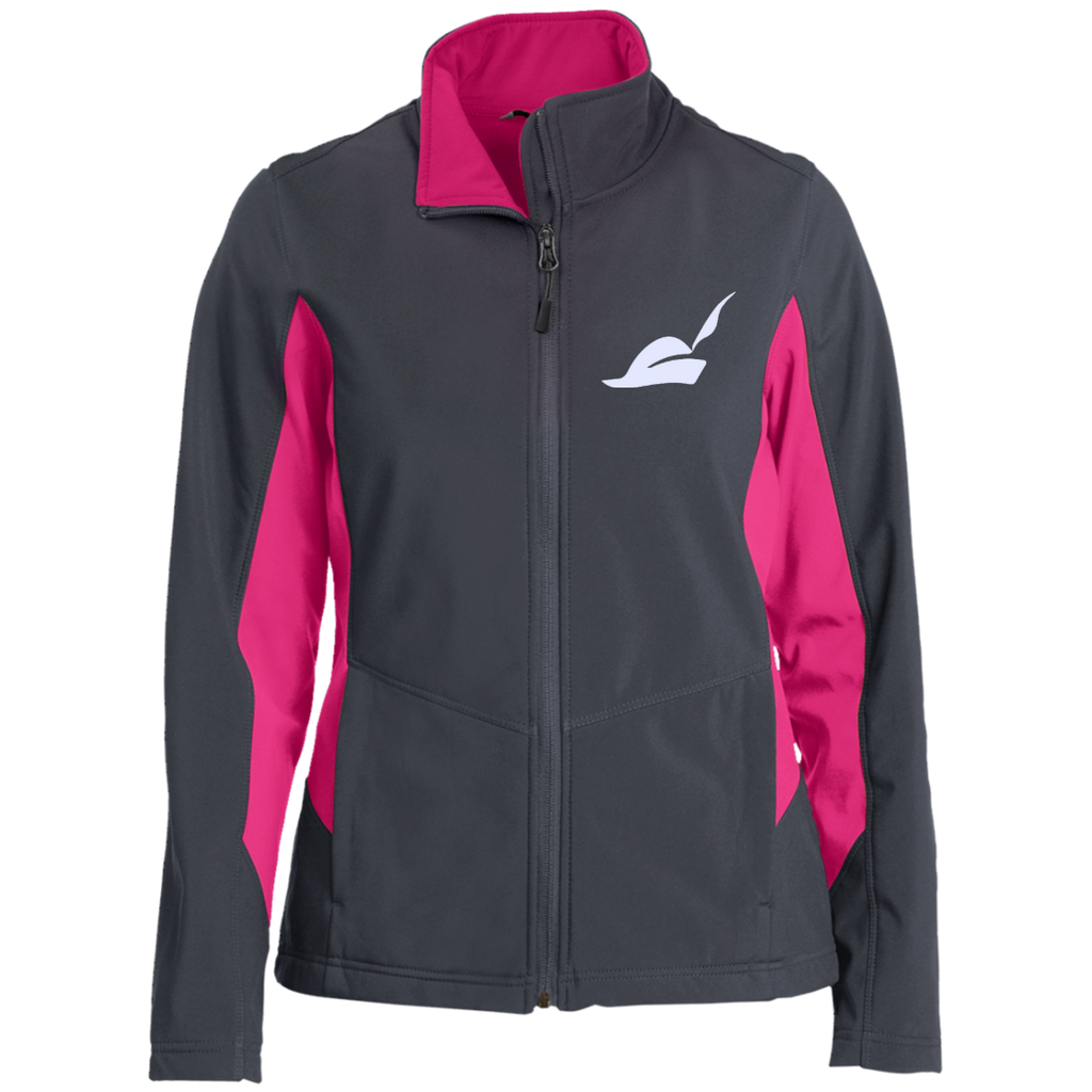 Piped-Piper-Logo---Silicon-Valley-Ladies'-Colorblock-Soft-Shell-Jacket-Battleship-Grey/Charge-Green-XS-