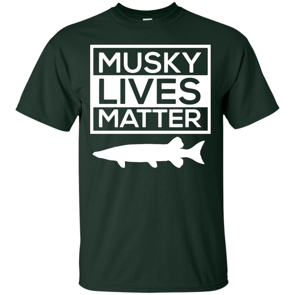 Musky-Lives-Matter-Muskellunge-Musky-Fishing-Funny---Men/Women-T-Shirt-Custom-Ultra-Cotton-T-Shirt-Black-S