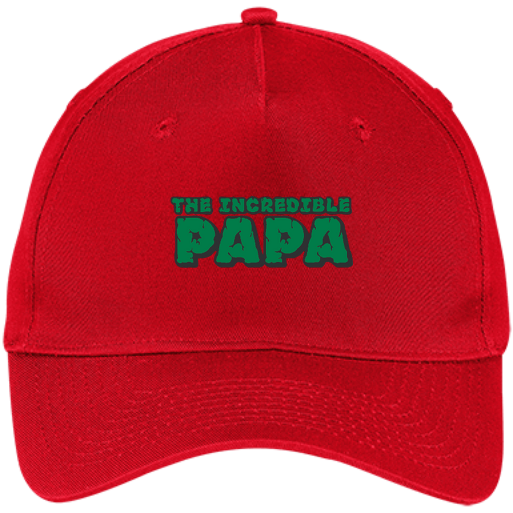 d8c0f75ac87e7 Men s The Incredible PAPA - Superhero Father s Day Gift - Five Panel ...