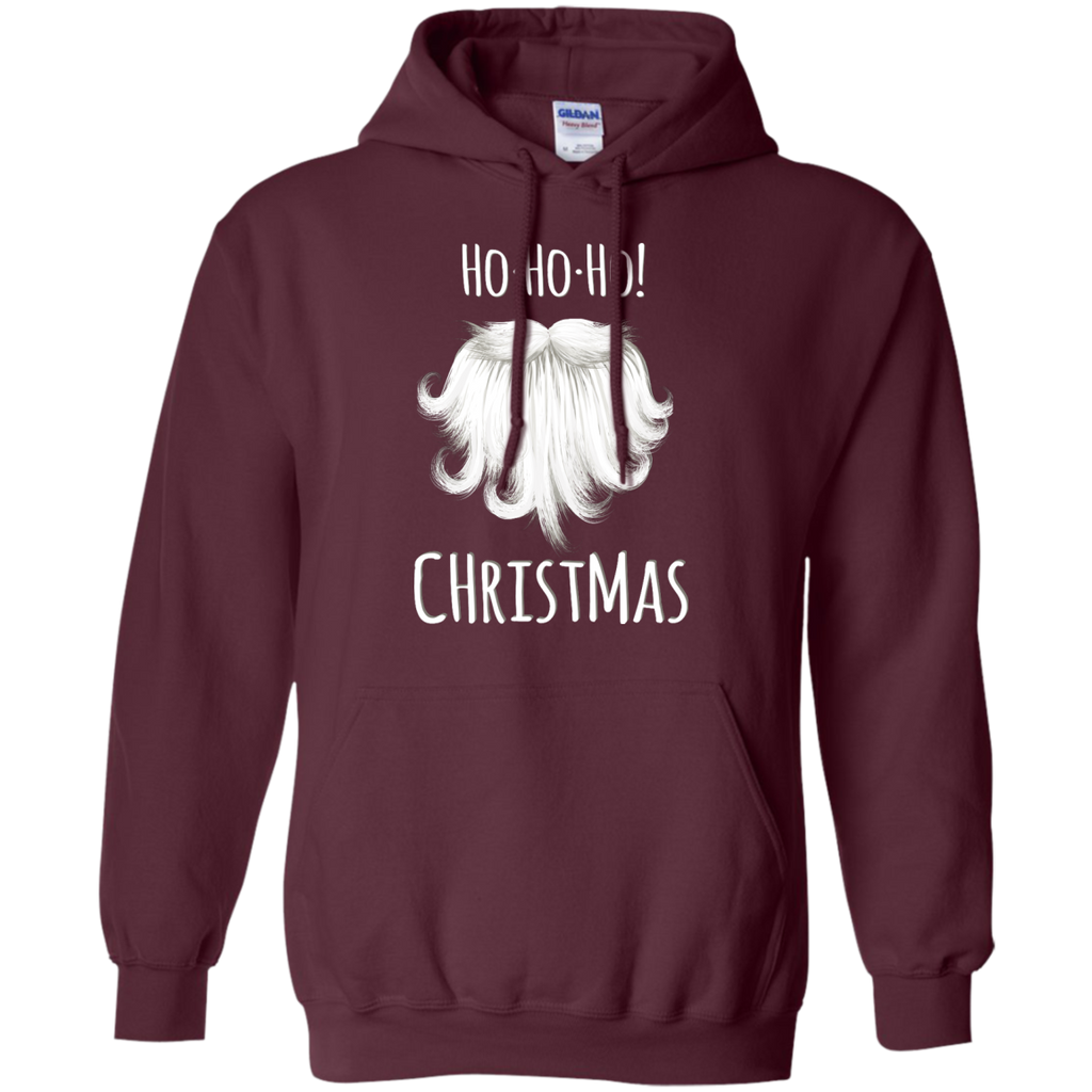christmas,-santa-funny,-laugh-hohoho-Pullover-Hoodie-8-oz-Dark-Chocolate-S-