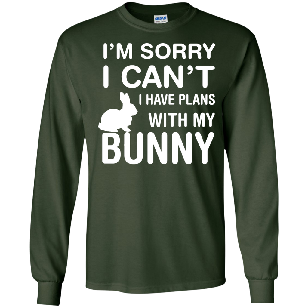 Sorry-I-Can't-I-Have-Plans-With-My-Bunny-Pet-Lover-LS-Tshirt---Teeever.com-Black-S-