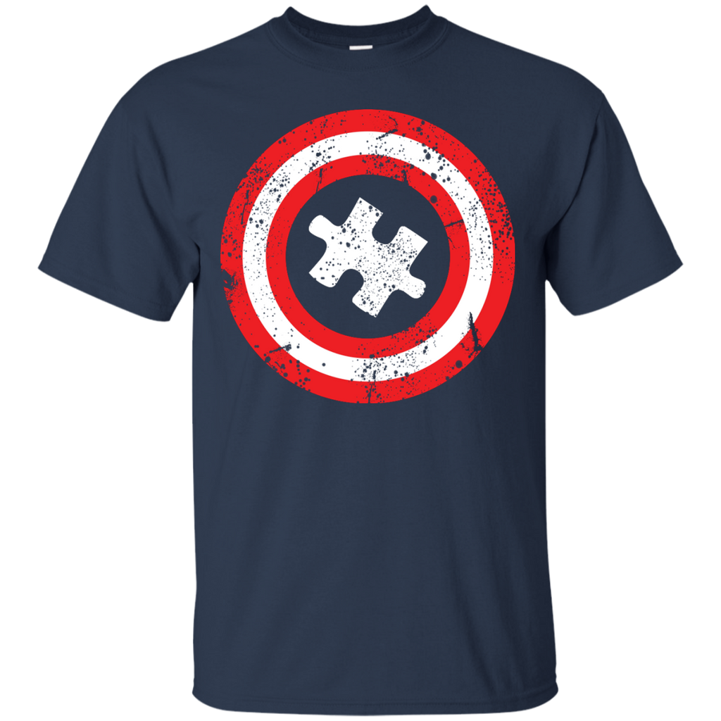 Autism-Awareness---Captain-Autism---Men/Women-T-Shirt-Custom-Ultra-Cotton-T-Shirt-Black-S