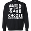 Choose-your-weapon-gamer-video-game-nerdy-gaming---Men/Women-T-Shirt-Custom-Ultra-Cotton-T-Shirt-Black-S
