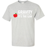 Gravity-it's-not-just-a-good-idea-it's-the-law-T-Shirt-Sport-Grey-S-