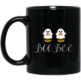 Boo Bees Couples Halloween Costume Funny Black mugs