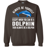 Always-Be-Yourself---Except-When-You-Can-Be-a-Dolphin-Pullover-Sweatshirt-Black-S-