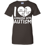 I-Love-Someone-With-Autism-Cute-Autism---Men/Women-T-Shirt-Custom-Ultra-Cotton-T-Shirt-Black-S