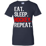 Eat-Sleep-Hockey-Repeat-Ladies'-T-Shirt-Black-XS-