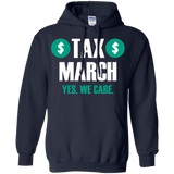 Tax-march---yes-we-care---Long-Sleeve-LS,-Sweatshirt,-Hoodie-LS-Ultra-Cotton-Tshirt-Black-S