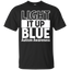 Shop4Ever-Light-It-Up-Blue-White-Women's-T-Shirt-Autism-Awarenes---Men/Women-T-Shirt-Custom-Ultra-Cotton-T-Shirt-Black-S