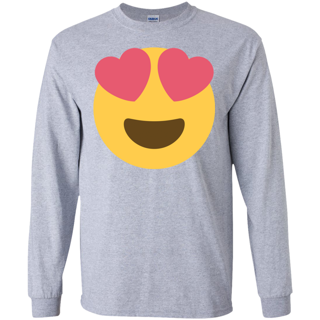HEart-face-LS-Ultra-Cotton-Tshirt-Sport-Grey-S-