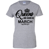 Women's-Queens-are-born-in-March---Men/Women-T-Shirt-Custom-Ultra-Cotton-T-Shirt-Sport-Grey-S