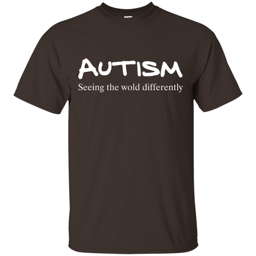 Autism-Awareness-Seeing-the-World-Differently---Men/Women-T-Shirt-Custom-Ultra-Cotton-T-Shirt-Black-S