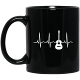 Acoustic-Guitar-Heartbeat---Guitar-Musician-MUGS-BM11OZ-11-oz.-Black-Mug-Black-One-Size