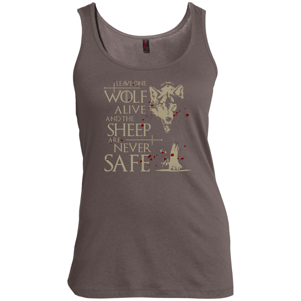 Leave-one-wolf-alive-and-the-sheep-are-never-safe-Women's-Tank-Top-Warm-Grey-XS-