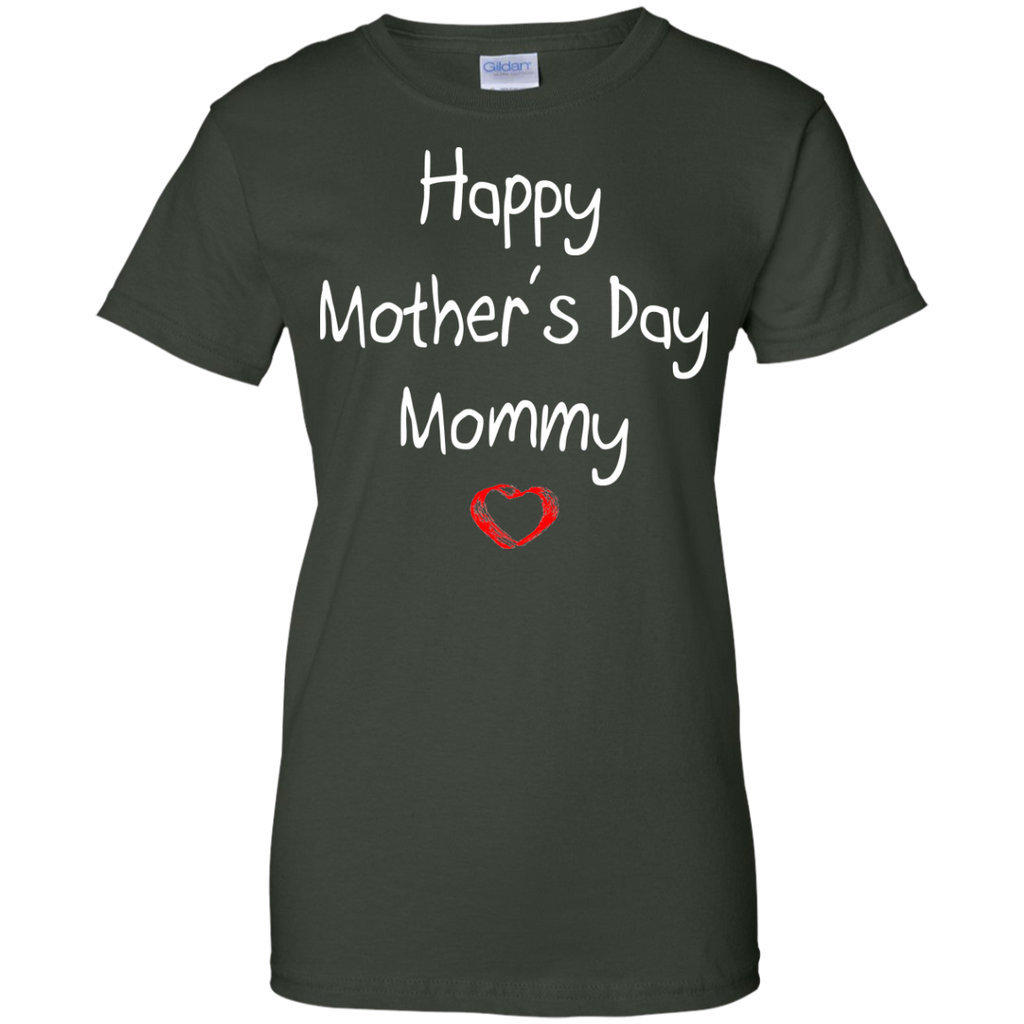 Happy-Mother's-Day-Mommy---Children's-Perfect-Gift-Ladies-T-Shirt---Teeever-Black-XS-