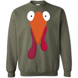 Thanksgiving-day,turkey---funny,fun,cute-Crewneck-Pullover-Sweatshirt-8-oz-Sport-Grey-S-