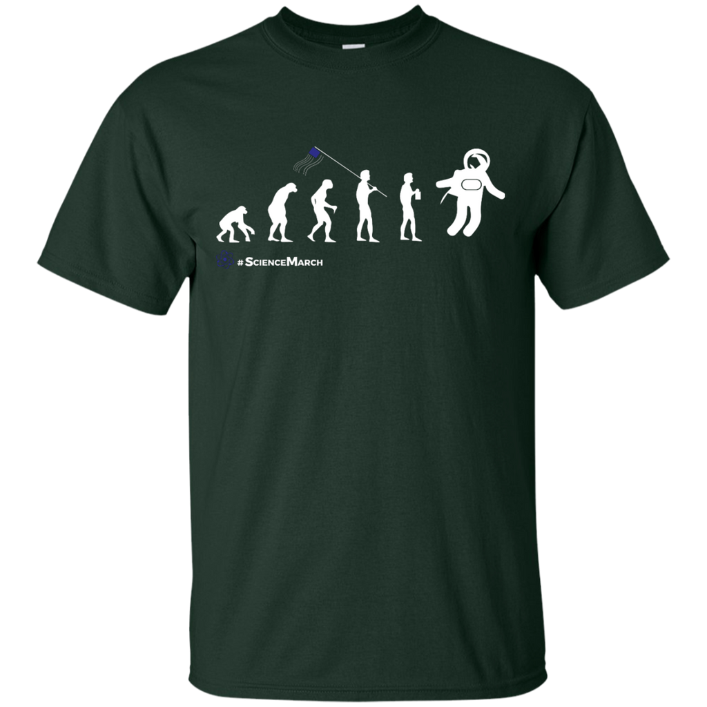 March-For-Science-T-Shirt-Human-Evolution-Earth-Scientist-Clothing---Men/Women-T-Shirt-Custom-Ultra-Cotton-T-Shirt-Black-S