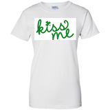 Kiss-me-Ladies-Custom-100%-Cotton-T-Shirt-Sport-Grey-XS-