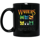 Warrior-Cats-Clan-Icons---boy-and-girls-book-readers-Black-Mugs-BM11OZ-11-oz.-Black-Mug-Black-One-Size