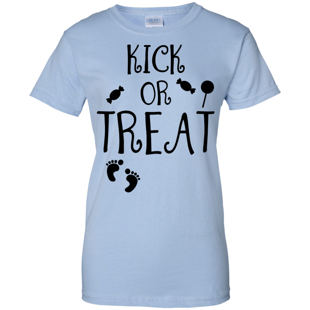 Kick-or-Treat,-Halloween-Ladies'-T-Shirt-Sport-Grey-XS-