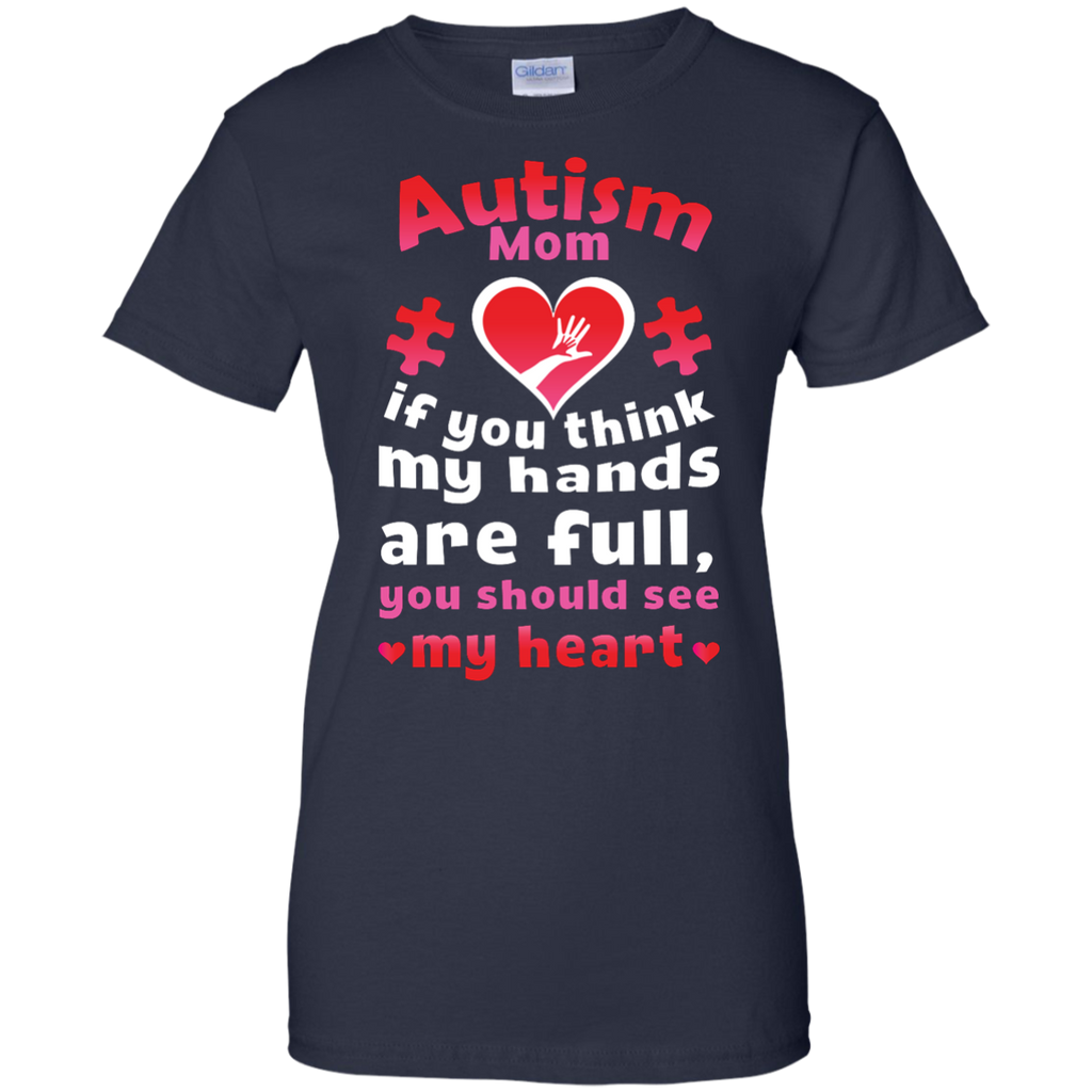Autism-Mom-Shirt-Puzzle-Piece-Mom---Men/Women-T-Shirt-Custom-Ultra-Cotton-T-Shirt-Black-S