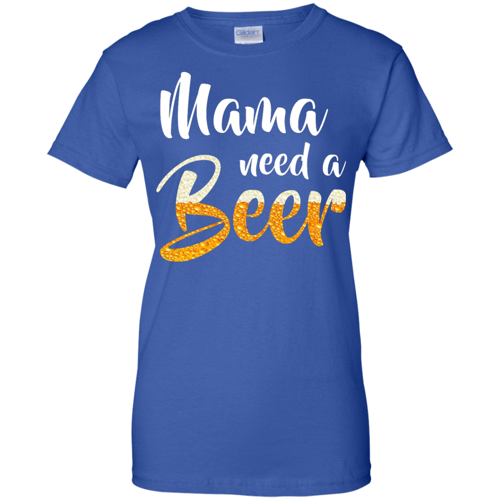Mama-need-a-beer-Ladies-T-Shirt---Teeever.com-Black-XS-