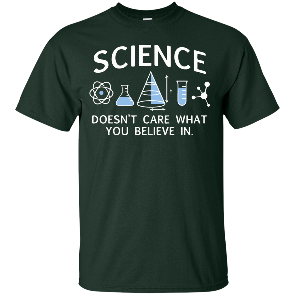 Science-Doesn't-care-what-you-believe-in-T-Shirt-Sport-Grey-S-
