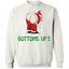 Christmas,-santa,-funny,-bottoms-up-Pullover-Sweatshirt-8-oz-White-S-