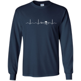 Airplane-Pilot-Heartbeat---Funny-Cute-Flying-Gift-LS-Tshirt---Teeever.com-Black-S-